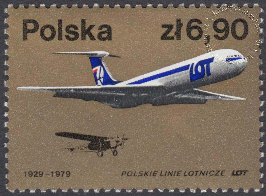 Polskie Linie Lotnicze LOT znaczek nr 2455