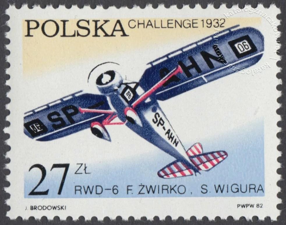 50 lecie zwycięstwa polskich lotników – Challenge znaczek nr 2658