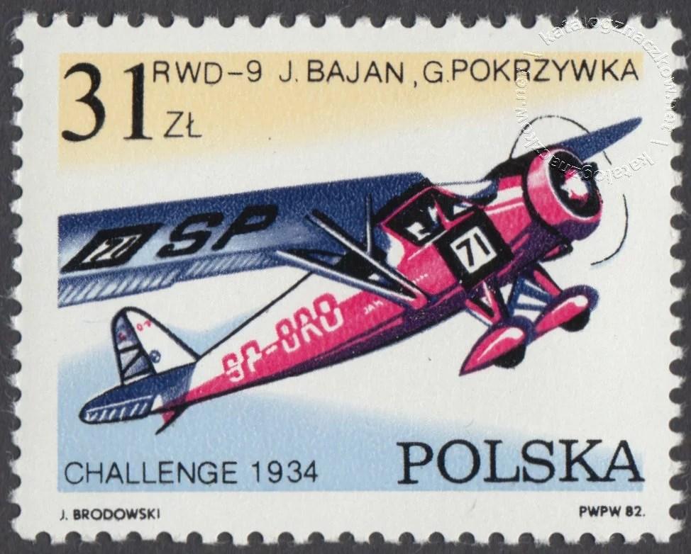 50 lecie zwycięstwa polskich lotników – Challenge znaczek nr 2659