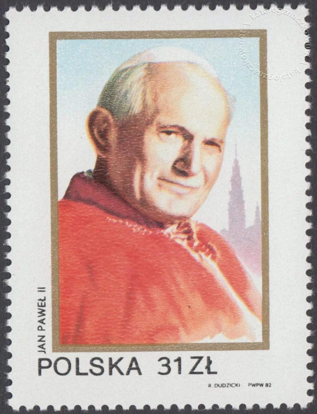 II wizyta papieża Jana Pawła II w Polsce znaczek nr 2720