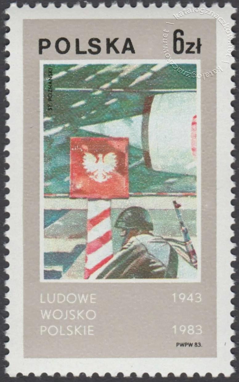 40 lecie Ludowego Wojska Polskiego znaczek nr 2738