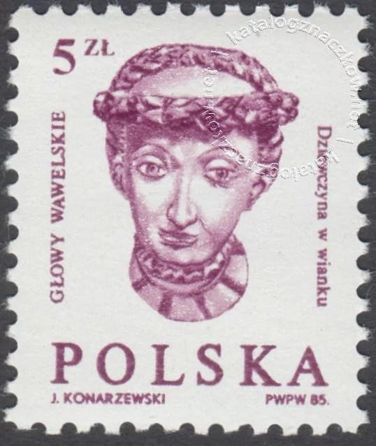Głowy wawelskie znaczek nr 2838