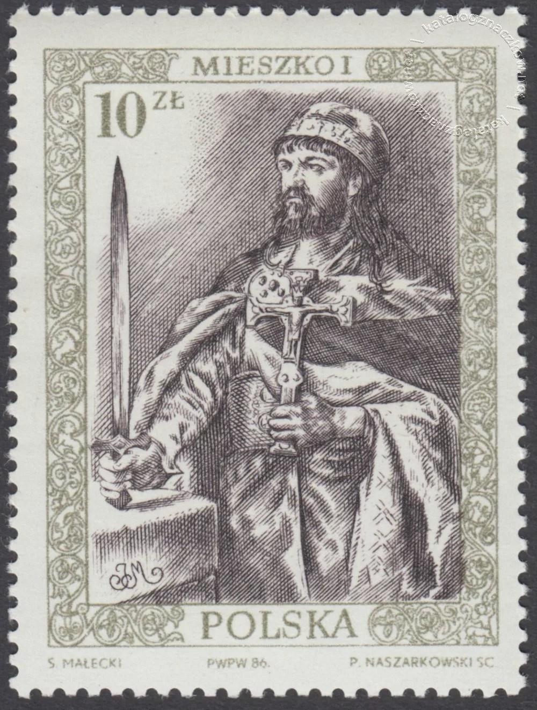 Poczet królów i książąt polskich znaczek nr 2918