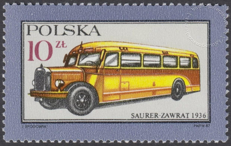 Dawne polskie samochody i motocykle znaczek nr 2945