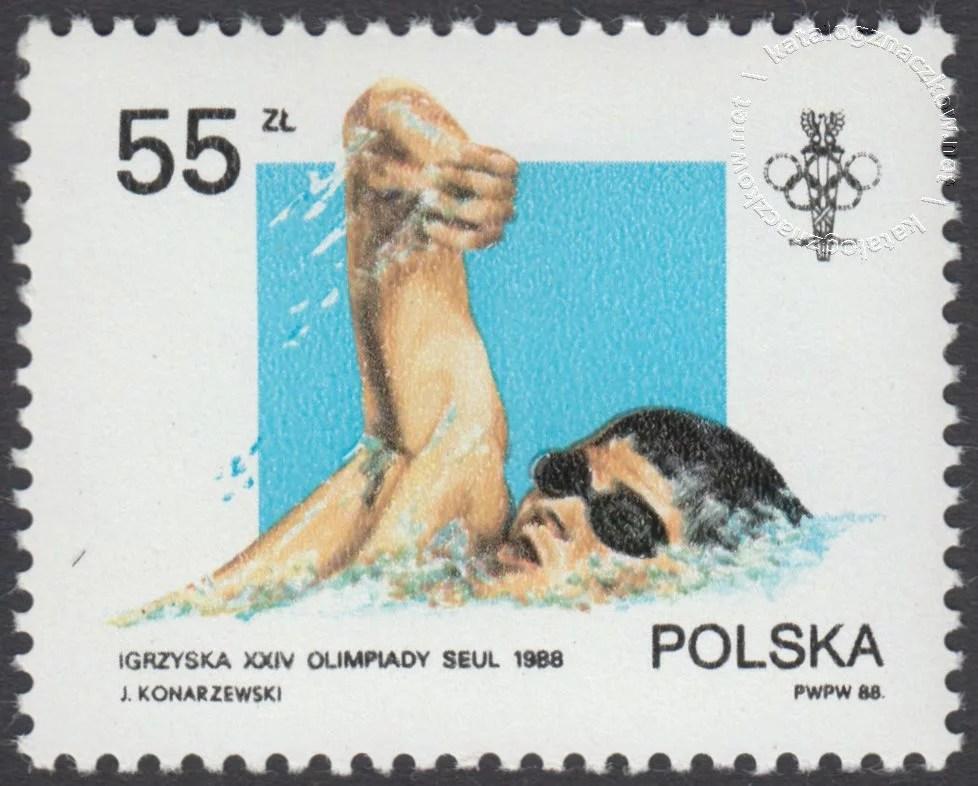 XXIV Igrzyska Olimpijskie w Seulu znaczek nr 3006