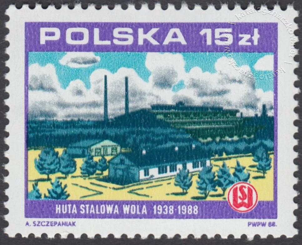 Huta Stalowa Wola znaczek nr 3014