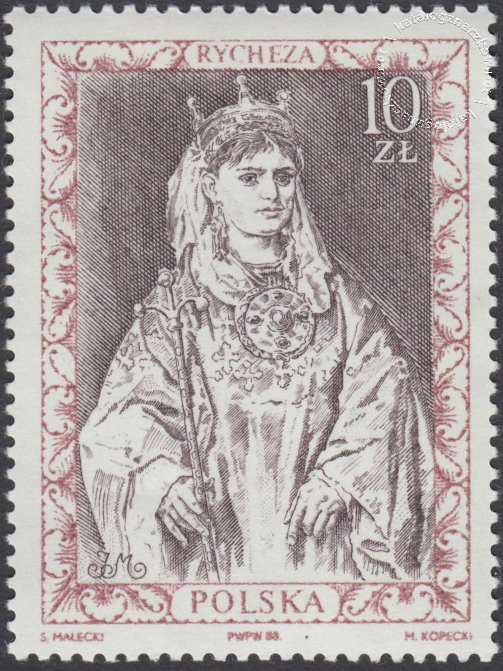Poczet królów i książąt polskich znaczek nr 3030