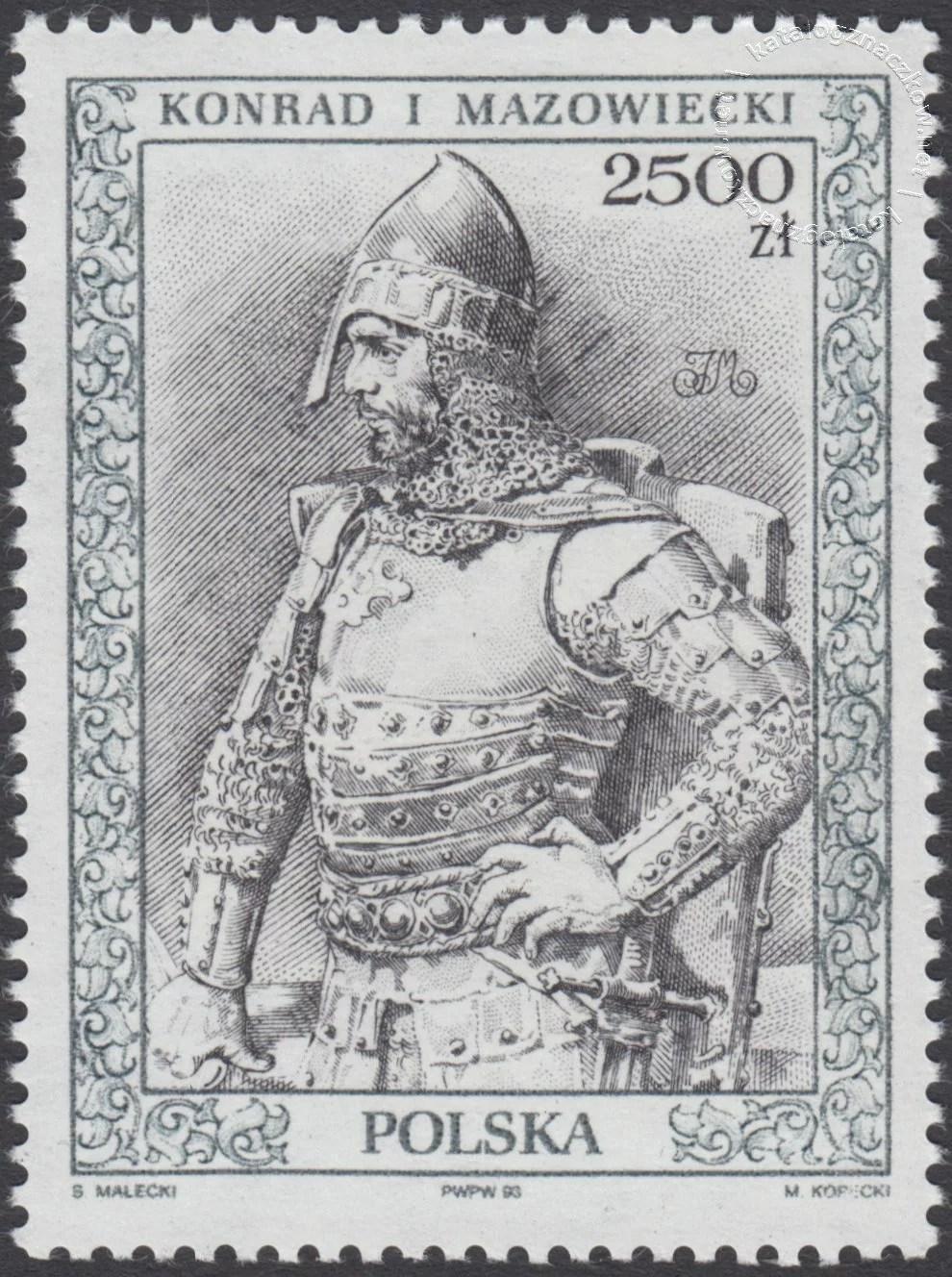 Poczet królów i książąt polskich znaczek nr 3288