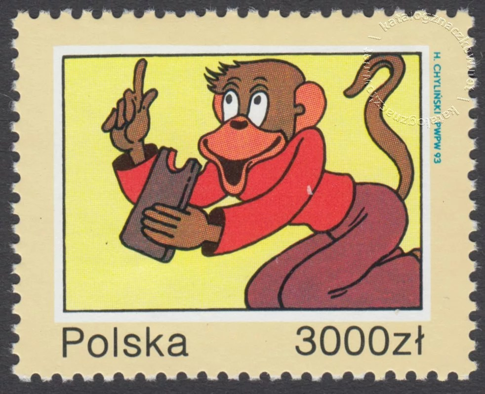 40 rocznica śmierci Kornela Makuszyńskiego znaczek nr 3306