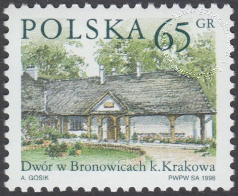 Dworki polskie znaczek nr 3548