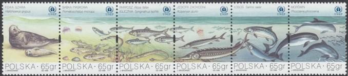 Ochrona Bałtyku znaczek nr 3558-3563