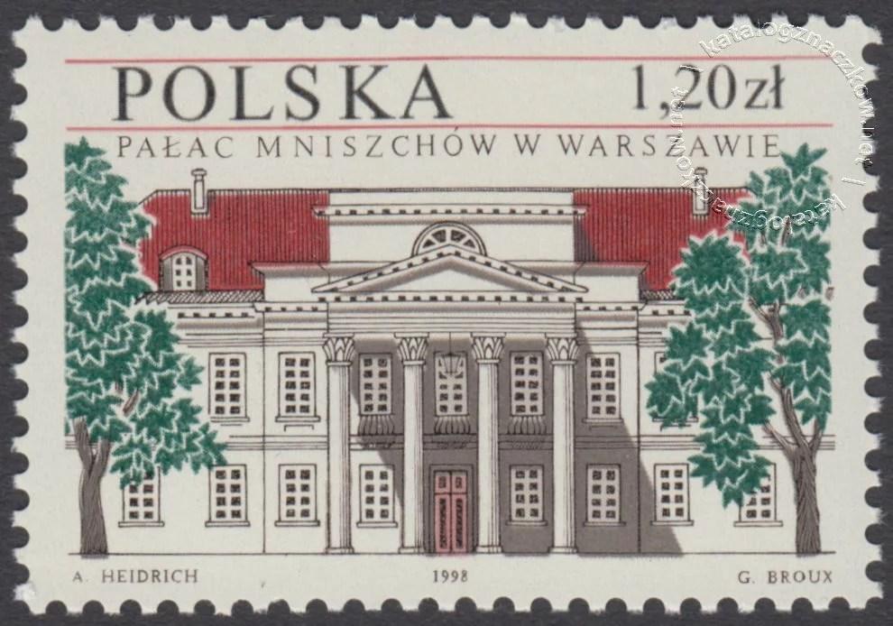 Pałac Mniszchów w Warszawie znaczek nr 3581