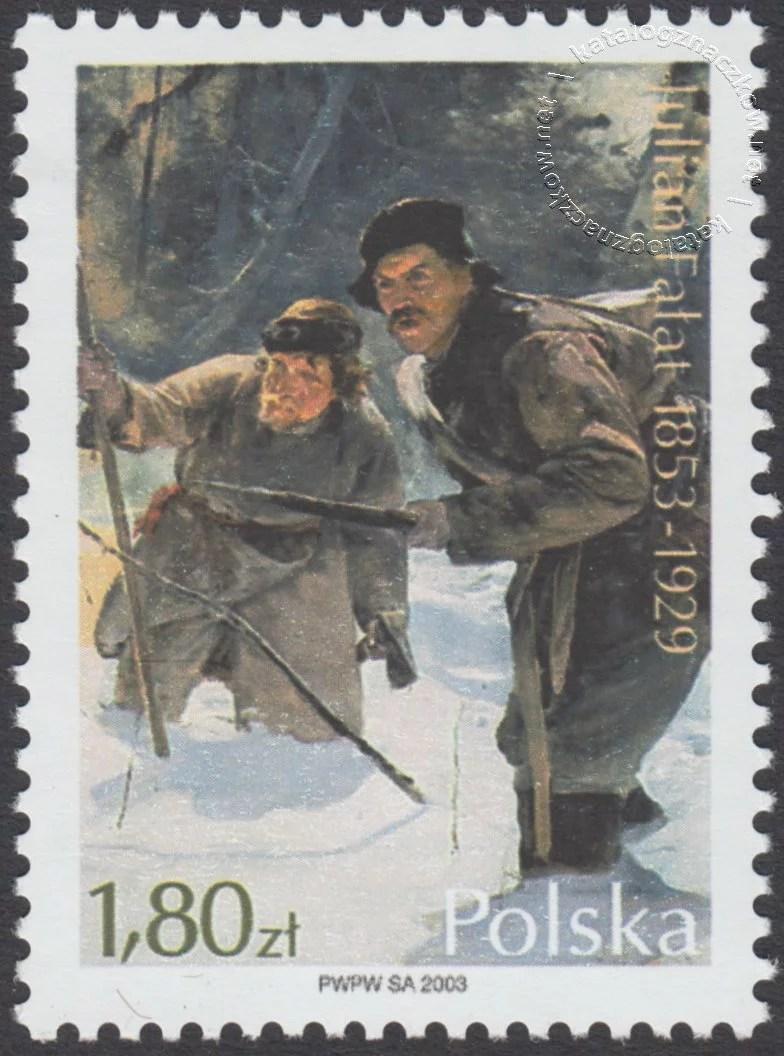 150 rocznica urodzin Juliana Fałata znaczek nr 3916
