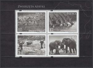 Zwierzęta Afryki ark. 4271-4274