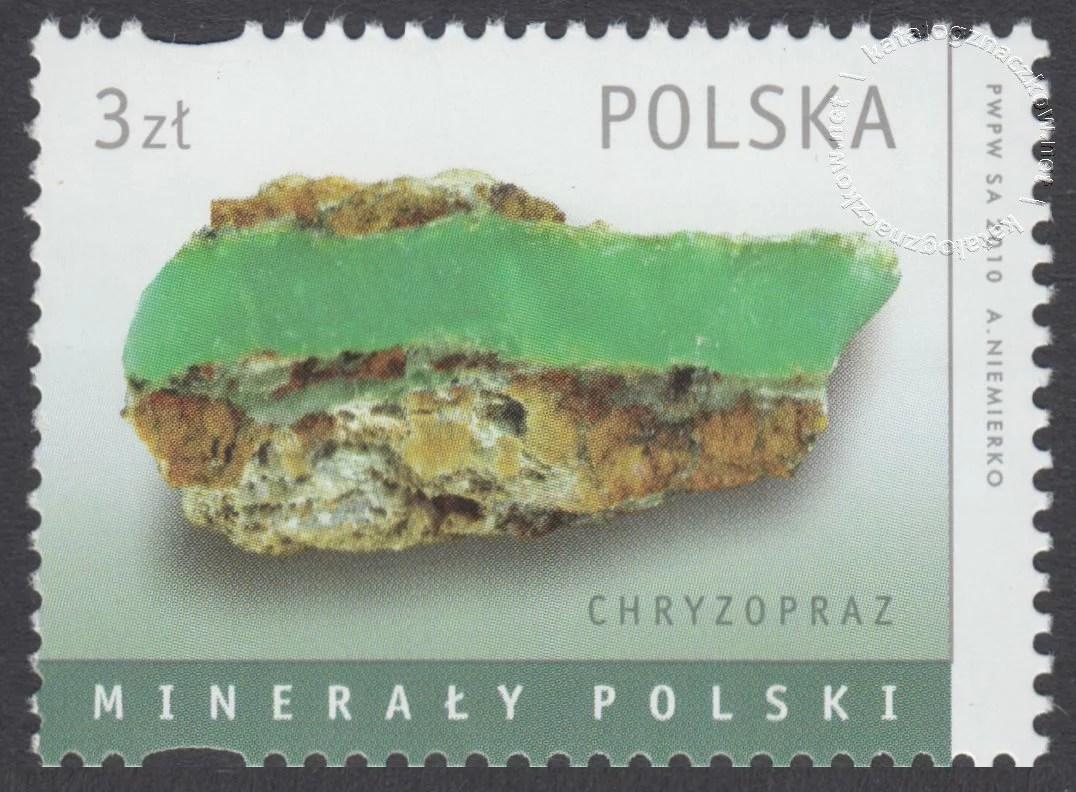 Minerały Polski znaczek nr 4345