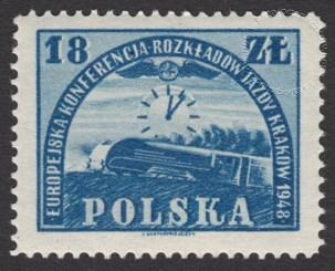 Europejska konferencja Rozkładów Jazdy w Krakowie - znaczek nr 469