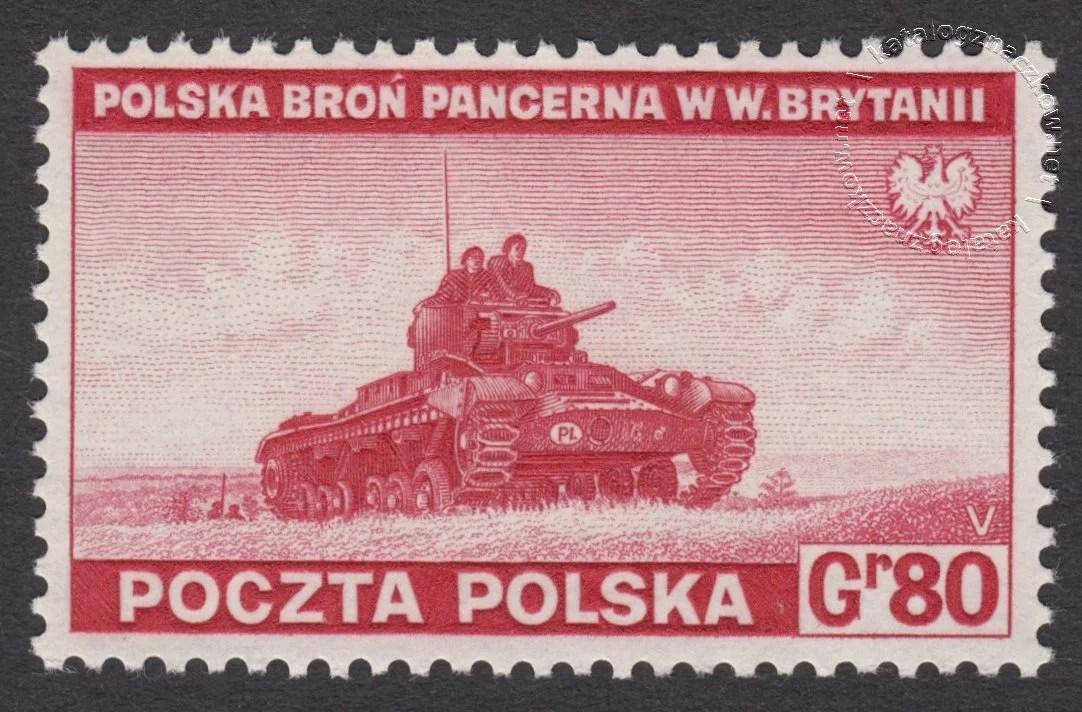 Zniszczenia dokonane przez Niemców w Polsce. Wojsko polskie w Wielkiej Brytanii znaczek nr F338
