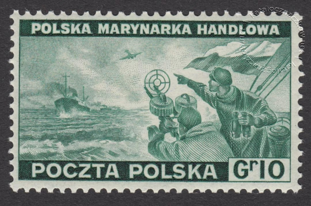 Polskie siły zbrojne w walce z Niemcami znaczek nr J338