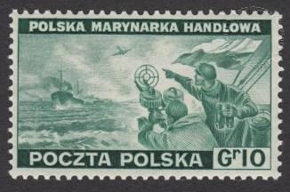 Polskie siły zbrojne w walce z Niemcami - znaczek nr J338