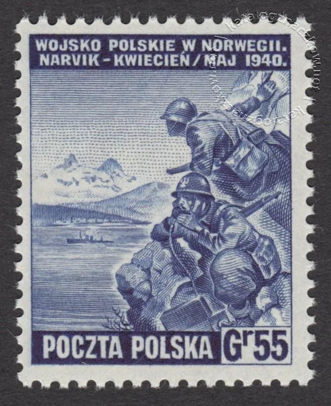 Polskie siły zbrojne w walce z Niemcami znaczek nr L338