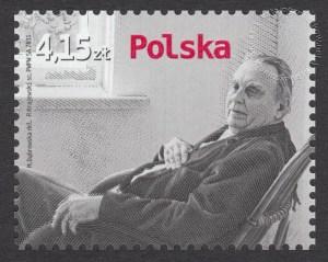 100 rocznica urodzin Czesława Miłosza - znaczek nr 4377