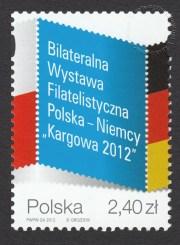 Bilateralna Wystawa Filatelistyczna Polska - Niemcy KARGOWA 2012 - znaczek nr 4433
