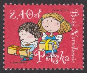 Boże Narodzenie - znaczek nr 4442