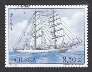 Zlot Wielkich Żaglowców Szczecin 2013 - znaczek nr 4473