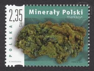 Minerały Polski - znaczek nr 4484