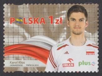 Złoci Medaliści FIVB Mistrzostw świata w piłce siatkowej mężczyzn Polska 2014 - znaczek nr 4581