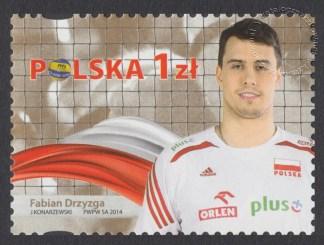 Złoci Medaliści FIVB Mistrzostw świata w piłce siatkowej mężczyzn Polska 2014 - znaczek nr 4584