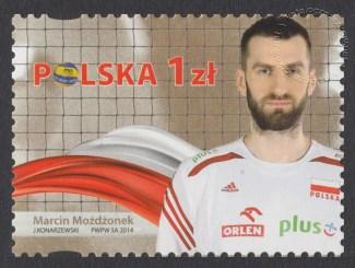 Złoci Medaliści FIVB Mistrzostw świata w piłce siatkowej mężczyzn Polska 2014 - znaczek nr 4588