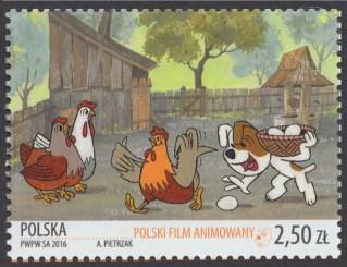 Polski film animowany - znaczek nr 4686