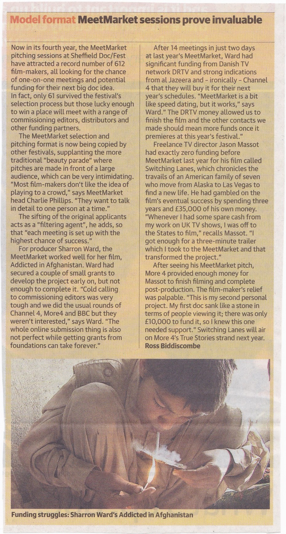 Interview in The Guardian