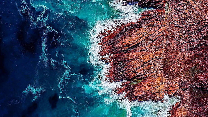 water-rock-wave-drone-view-wallpaper-preview