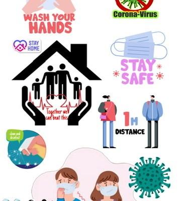 Ilustrasi mengenai virus corona, covid 19