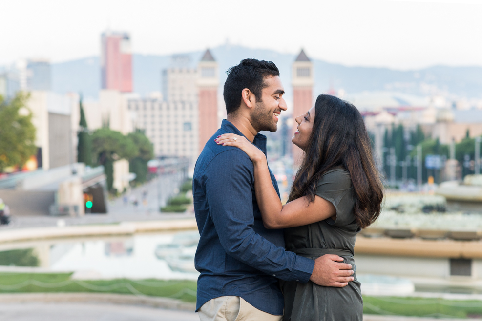surprise engagement proposal Barcelona