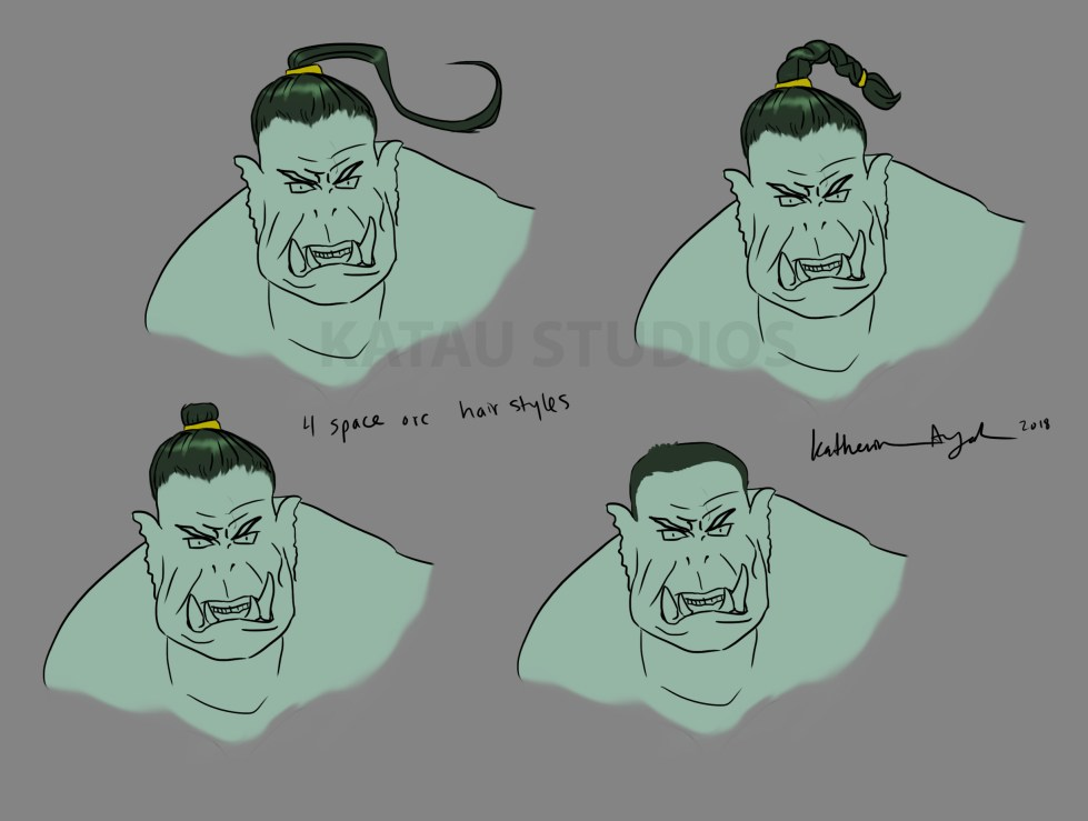 4 Space Orc Hair Styles
