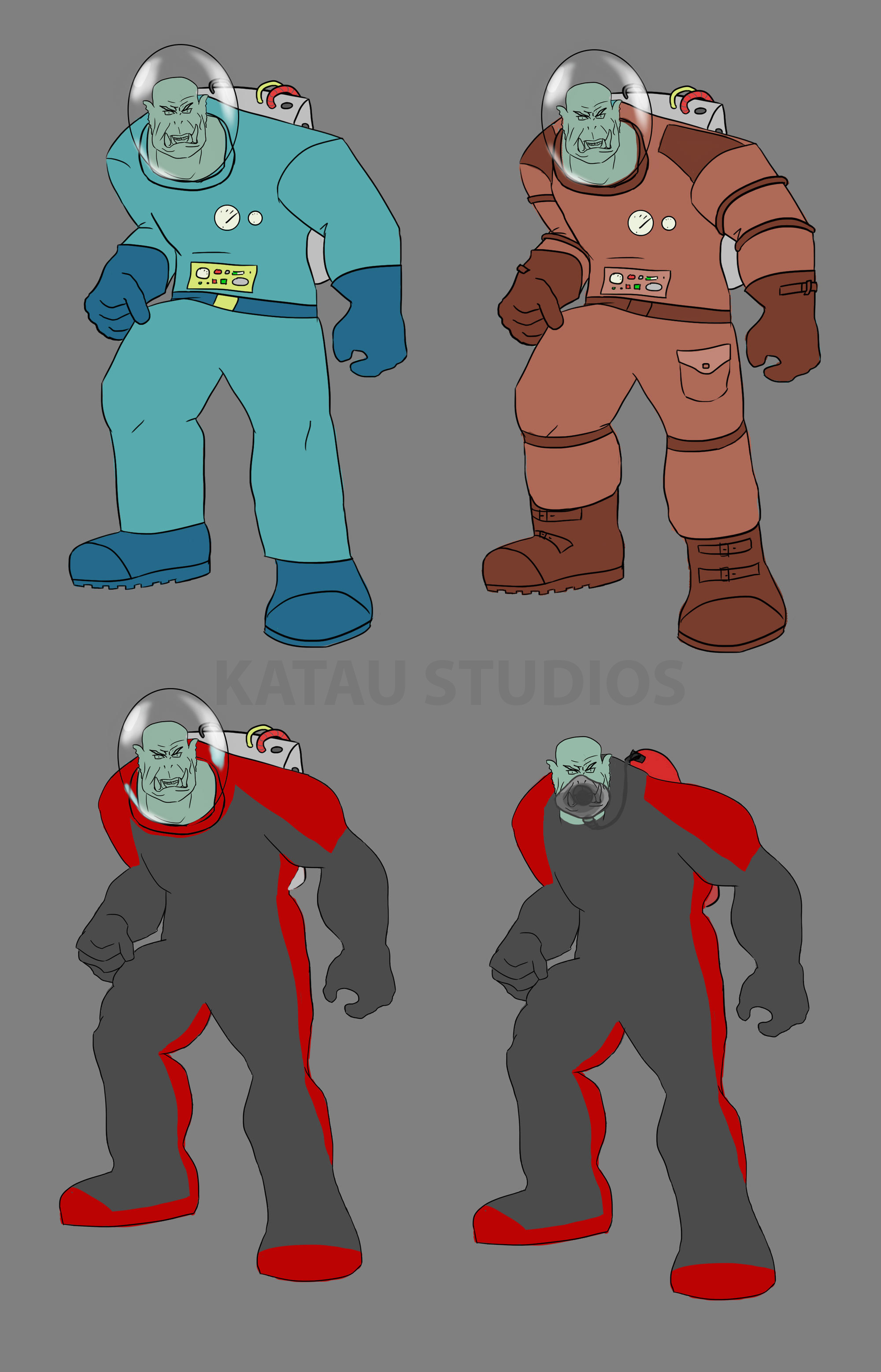 4 Space Orc Designs