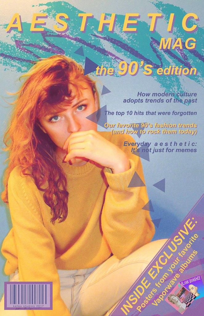 Aesthetic Magazine Cover Design