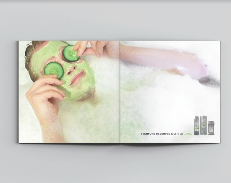 Dove Men+ Care Magazine Ad Mockup by Katherine Augade