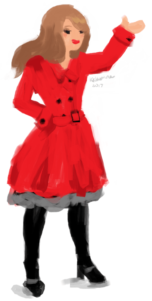 Red Coat Quick Paint by Katherine Augade