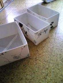 ●イケアの箱で模様替え♪~洗面所棚