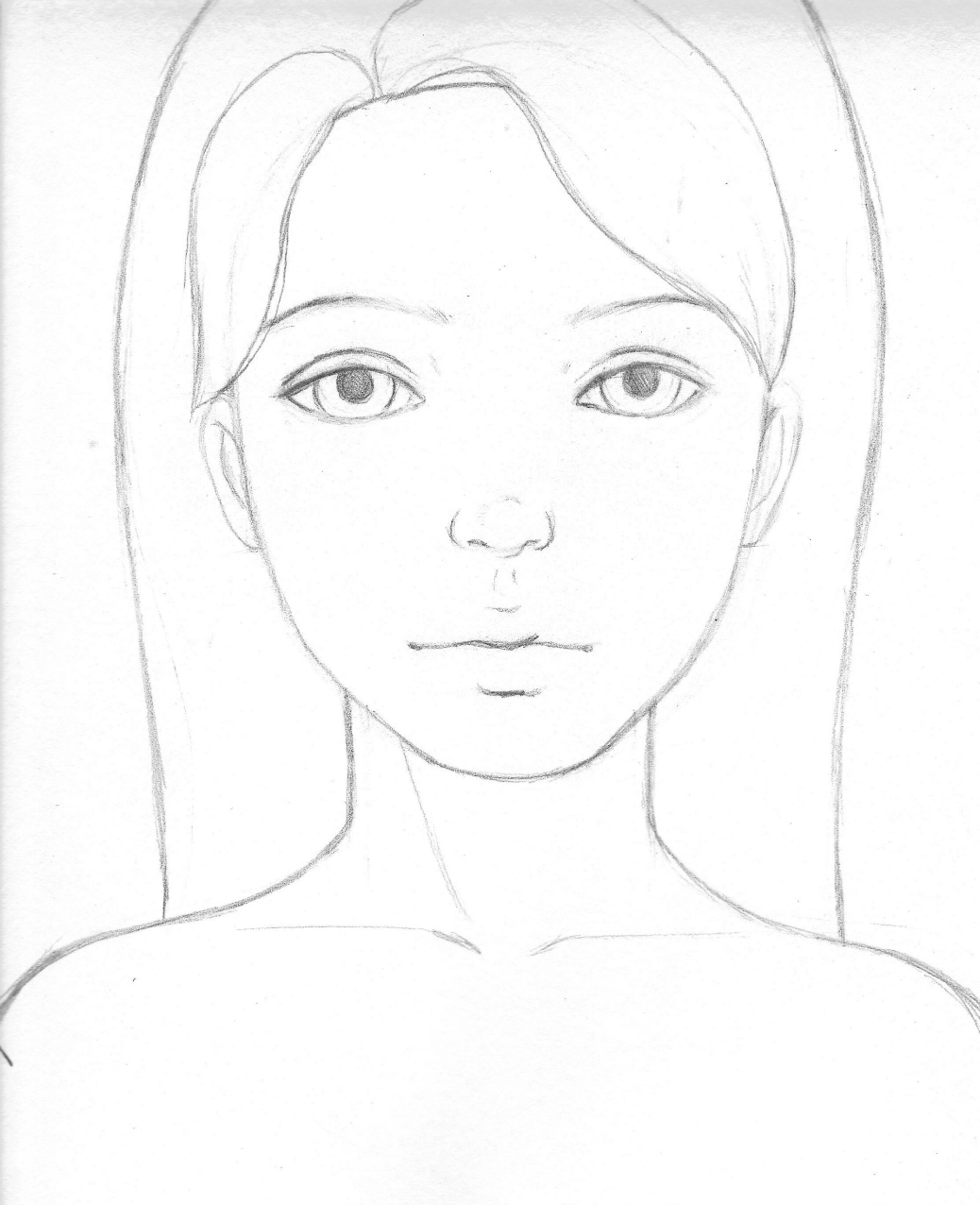 Blank Human Head Coloring Pages
