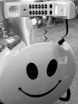 An oh so cool smiley phone
