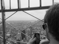 Catching the view from the Empire State Building