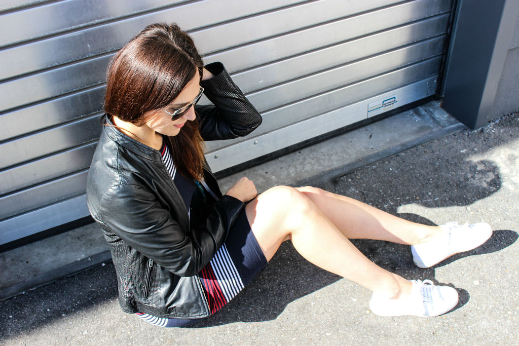 Daily Look Superdry casual dress and Bomboogie Leather Jacket_06
