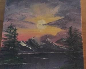 kate aaron bob ross sunset aglow