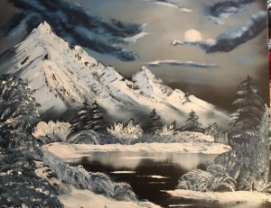 aj rose bob ross winter moon