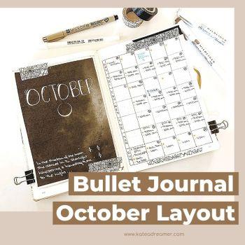 October 2020 Bullet Journal Layout!